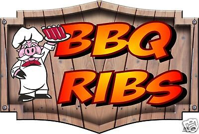 Bbq Ribs Decal 14 Barbeque Concession Catering Restaurant Food Truck Vinyl Menu
