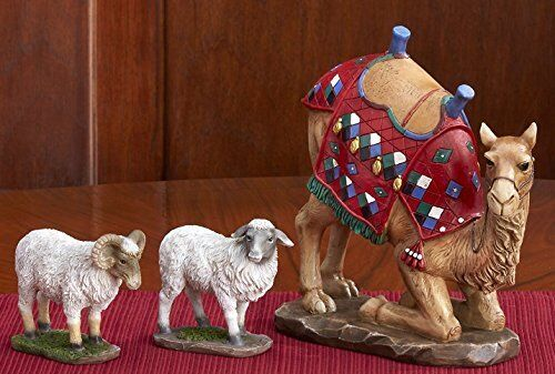 Kneeling Camel and Awassi Sheep - For 14 inch Real Life Nativity