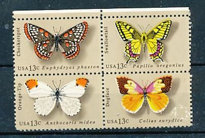 TIMBRE STAMP ZEGEL U.S.A. AMERIQUE PAPILLONS BUTTERFLY 1160-63  XX