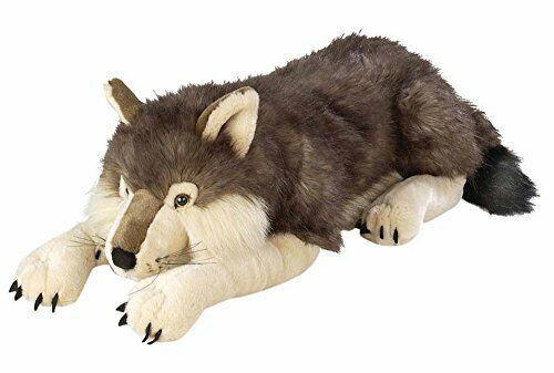 Wild Republic Jumbo Wolf Plush, Giant Stuffed Animal, Plush