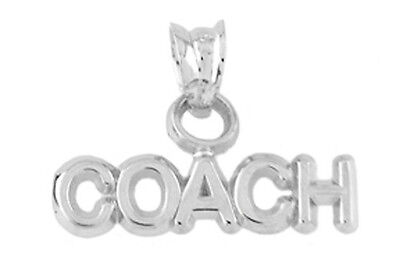 Platinum Plated Charm - PLATINUM PLATED STERLING SILVER WORD COACH CHARM / PENDANT