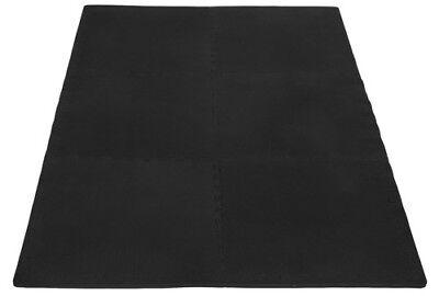 Schutzmatte Puzzlematte Bodenschutz Matte Fitness Training schwarz - 16-teilig