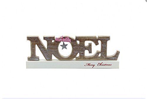 Noel Wooden Decorative Block - Merry Christmas free standing decoration