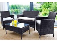 **FAST AND FREE UK DELIVERY** 4-Piece Rattan Garden Conservatory Furniture - 50% OFF!