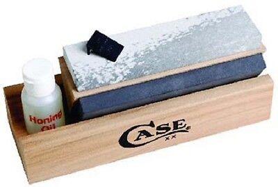 (CASE XX KNIVES #9399 TRI-HONE 3 SIDED KNIFE SHARPENER KIT NEW USA MADE SALE)