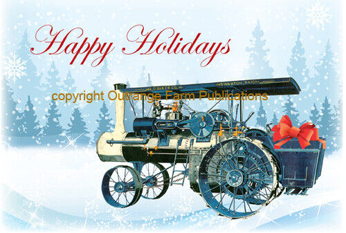 NEW A.D. Baker Steam Traction Engine Christmas Cards Antique Tractor