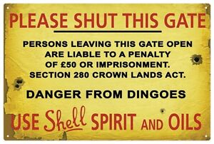 SHELL-OIL-Please-shut-this-gate-TIN-SIGN-Large-size