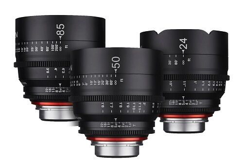 New Rokinon Xeen 16mm T2.6, 50mm T1.5, 85mm T1.5 Three Lens Set For Pl Mount