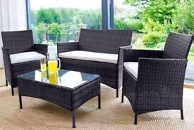 **FAST AND FREE UK DELIVERY** 4-Piece Rattan Garden Conservatory Furniture - OFFER!