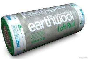 100mm Knauf Earthwool Loft Insulation Roll 13.89m² Full Size Not Mini 8.3m²