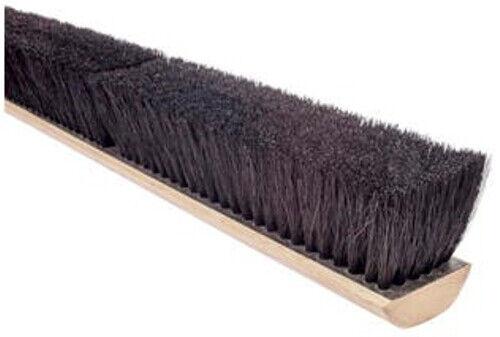 "Magnolia Brush #1818 18"" Selected Black Tampico Fiber Push Broom Head"