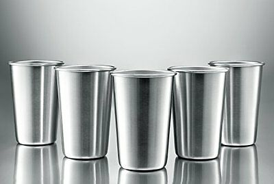 Modern Innovations Stainless Steel Pint Cups, Set of 5 16 oz
