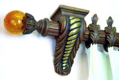 Curtains Ideas corbel curtain rod bracket : Drapery Sconce: Window Treatments & Hardware | eBay