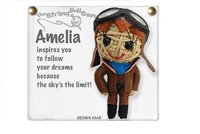 Kamibashi Amelia Earhart The Original String Doll Gang Keychain Clip