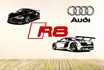 R8 GT Racing Wonderful Amusement Car, Vinyl Exasperate Decal, Case