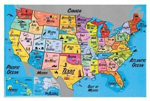 Map Magnet EBay - Magnetic us map