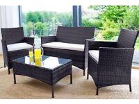 BRAND NEW 4-Piece Rattan Garden Conservatory Furniture - 50% OFF!