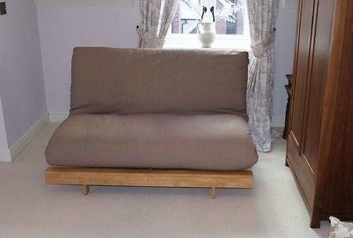 Futon Company Orlando Double Sofa Bed U0026 Extra Cover Sofabed Hardwood Base