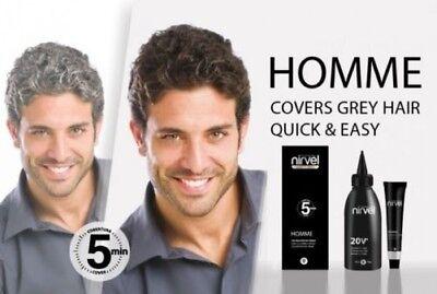 Herren- Haarfarbe Set, verdeckt Graue Haar in 5 Minuten,Ammoniak frei,Grautöne