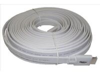 HDMI Cable 15 metre flat white