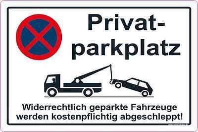 Privat Parkplatz Aufkleber Parkverbot Parken Verboten HALTEVERBOT 2092