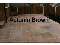 110 Square Metre Indian Autumn Brown Sandstone Paving Calibrated 18mm