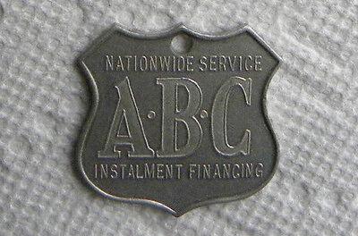 1935 1960 Abc Nationwide Installment Finance  Bank Loan Financing Keychain Medal