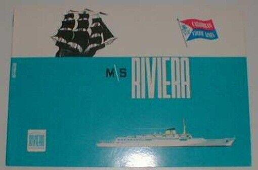 RIVIERA Caribbean Cruise Line SUPERB INTERIOR BOOKLET
