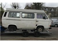 VW T25 Campervan Project with MOT