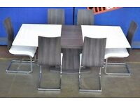 ROMAN CONRAD COLLECTION STYLISH DESIGNER DINING TABLE WITH 8 CHAIRS HIGH GLOSS new boxed