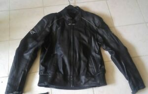 Men's motorcycle breathable leather jacket