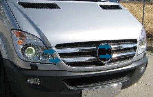 MERCEDES Sprinter Rear Light Trim Cover Surrounds S.Steel 2006-2017