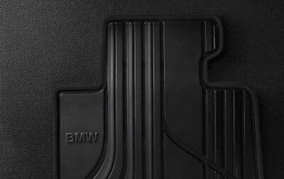 BMW OEM BLACK Rubber Floor Mats SET 2012-2017 F30 XDRIVE Sedans 51472339809