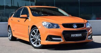 2014 Holden Commodore VF MY14 SS V Orange 6 Speed Manual Sedan