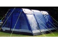 outwell colorado 5 man tent complete with 2 bedrooms. hardly used.