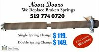 We Replace Springs, Rollers, Cables, and More. Call Today!