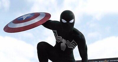 New Civil War Black Symbiote Spider-Man 3D Printing Cosplay Costume - Spiderman Civil War Costume