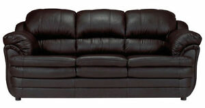 BRAND NEW BONDED LEATHER SOFA + LOVESEAT+ CHAIR BLACK COLOR!!