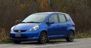 Blue 2007 Honda Fit LX Hatchback