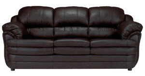 Brand New In Packaging~ Leather Sofa + Love Seat -Canadian Made