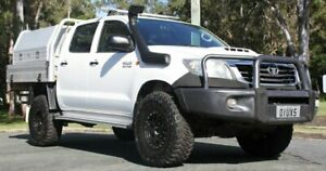 2011 Toyota Hilux KUN26R MY12 SR Double Cab White 5 Speed Manual Utility Southport Gold Coast City Preview