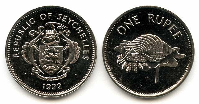 SEYCHELLES: 8-PIECE UNCIRC. COIN SET, 0.01 TO 1 RUPEE