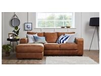BRAND NEW DFS NEW CAESAR CORNER SOFA, 2 SEAT SOFA AND LARGE OTTOMAN FOOT STOOL RRP £2527