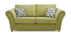 DFS SOFA SET: Sofa Bed and 2 Armchairs - Flutter Range - Green - Almost new, excellent condition