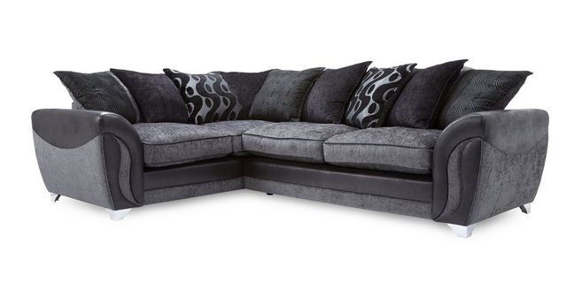 best authentic 5d8be dc579 DFS Corner Sofa Farrow Right Hand Facing 3 Seater Pillow Back Charcoal  Chrome | in Southampton, Hampshire | Gumtree