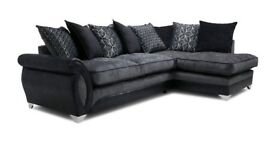 Oberon: Left Hand Facing 3 Seater Pillow Back Open End Corner Sofa
