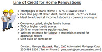 Line of Credit for Home Renovations