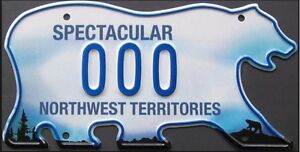 Licence Plate from Yellowknife