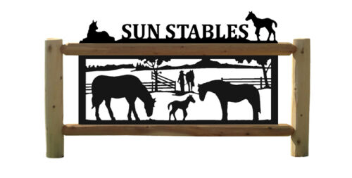 HORSES - PERSONALIZED EQUESTRIAN SIGNS - SADDLES - FARM & RANCH DECOR