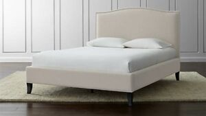 NEW Grey or Beige Fabric Studded queen bed frame and Mattress